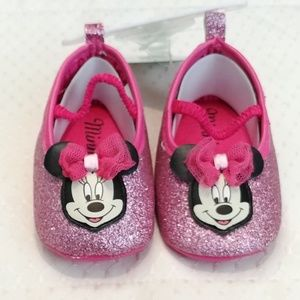 Disney Minnie Mouse Pink Glitter Shoes